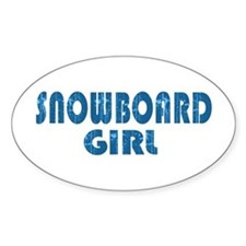 Snowboard Girl Oval Decal