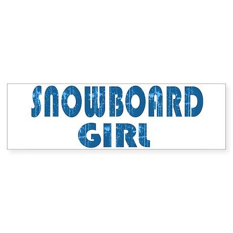 Snowboard Girl Bumper Sticker
