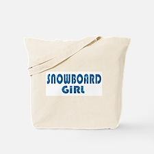 Snowboard Girl Tote Bag