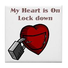 My Heart Is Locked Tile Coaster