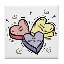 Customizable Candy Hearts Tile Coaster