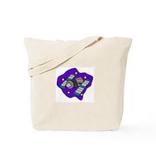 Cartoon Satelite Tote Bag