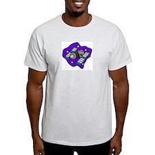 Cartoon Satelite Ash Grey T-Shirt