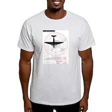 C-47 Turning Radius Ash Grey T-Shirt