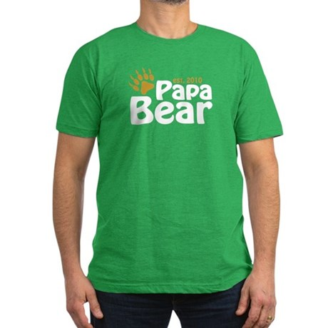 Papa Bear Claw 2010 Men's Fitted T-Shirt (dark)
