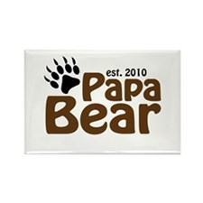 Papa Bear Claw 2010 Rectangle Magnet