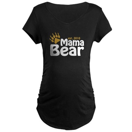 Mama Bear Claw 2010 Maternity Dark T-Shirt