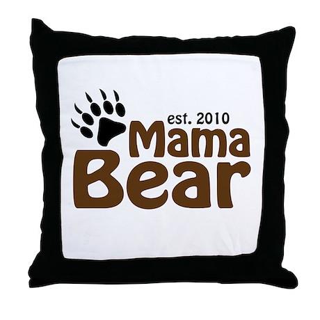 Mama Bear Claw 2010 Throw Pillow