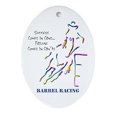 Barrel Racing Oval Ornament