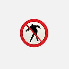 No Zombies Mini Button