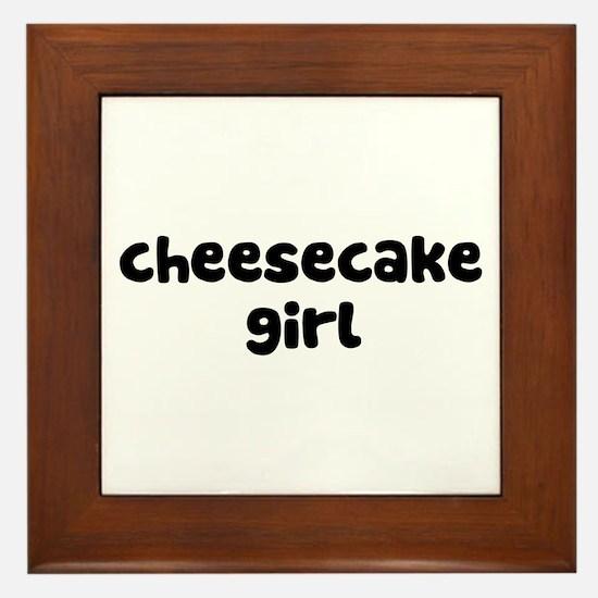 Cheesecake Girl Framed Tile