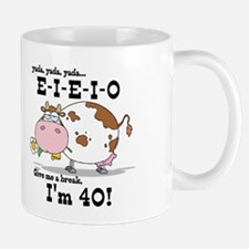 EIEIO 40th Birthday Mug