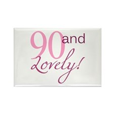 90 And Lovely Rectangle Magnet