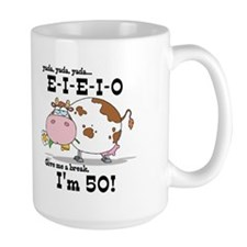 EIEIO 50th Birthday Mug