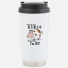 EIEIO 50th Birthday Stainless Steel Travel Mug