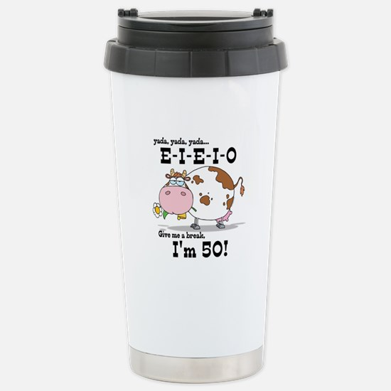 EIEIO 50th Birthday Stainless Steel Travel Mug