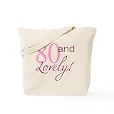 80th birthday Totes & Shopping Bags