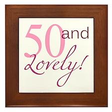 50 And Lovely Framed Tile
