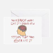 BRAIN HUMOR Greeting Card