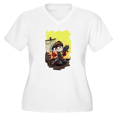 Cain. Just Cain Women's Plus Size V-Neck T-Shirt