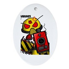 Angry Marines Ornament (Oval)