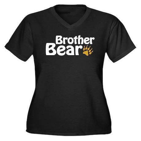 Brother Bear Women's Plus Size V-Neck Dark T-Shirt