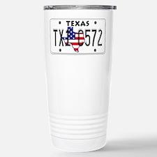 TX USA License Plate Stainless Steel Travel Mug