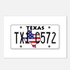 TX USA License Plate Postcards (Package of 8)
