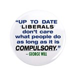 "3.5"" George Will quote Button"