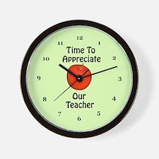 Teacher Appreciation Wall Clock