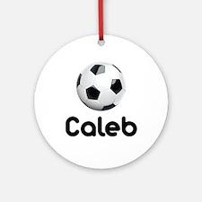 Soccer Caleb Ornament (Round)