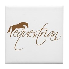 equestrian (brown variation) Tile Coaster