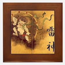 Japanese Raijin Framed Tile