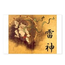 Japanese Raijin Postcards (Package of 8)