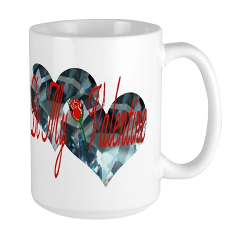 BE MY VALENTINE-BLUE TOPAZ Large Mug