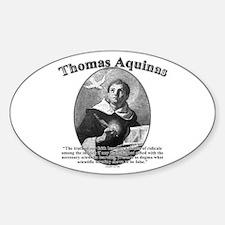 Thomas Aquinas 02 Oval Decal