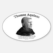 Thomas Aquinas 03 Oval Decal