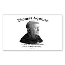 Thomas Aquinas 03 Rectangle Decal