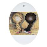 Jacobin Pigeons Oval Ornament