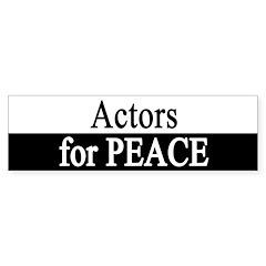 Actors for Peace Bumper Bumper Sticker