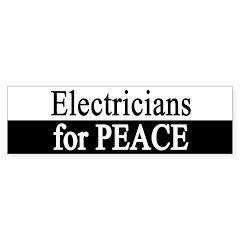 Electricians for Peace Bumper Bumper Sticker