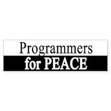 Programmers for Peace Bumper Bumper Sticker