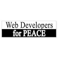 Web Developers for Peace Bumper Bumper Sticker