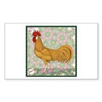 Minorca Rooster #2 Sticker (Rectangle 50 pk)