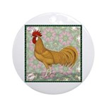 Minorca Rooster #2 Ornament (Round)