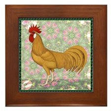 Minorca Rooster #2 Framed Tile