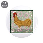 """Minorca Rooster #2 3.5"""" Button (10 pack)"""