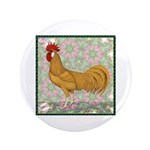 """Minorca Rooster #2 3.5"""" Button"""