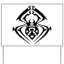 Tribal Tattoo Spider Yard Sign