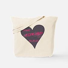 Team Edward Grey Heart Tote Bag